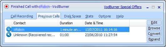 Registro de videollamadas de Skype