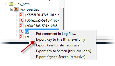Export Key to File