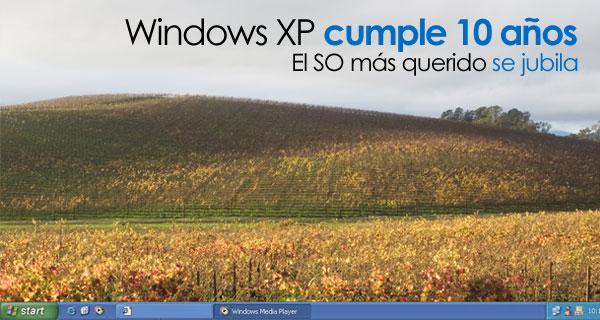 Windows XP cumple 10 años