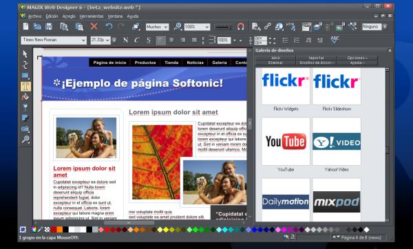 Captura de MAGIX Web Designer