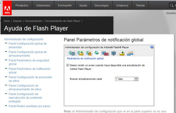 ¿Cómo configurar Adobe Flash Player?