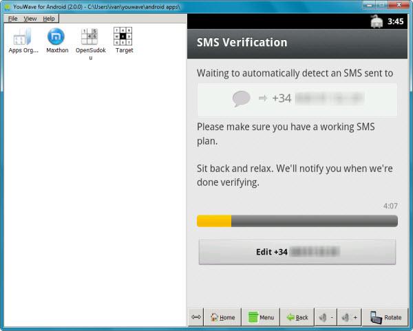 Verificacion por SMS
