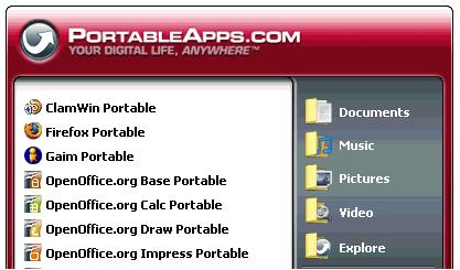 El lanzador de PortableApps