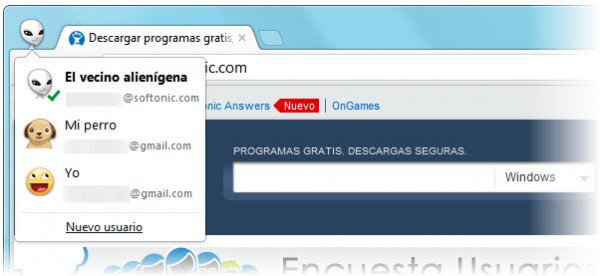 chrome usuarios