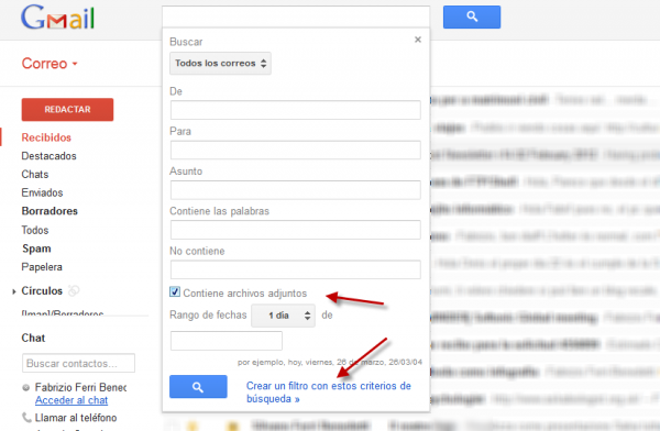 how to search who sentence gmail