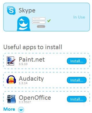 Skype y apps