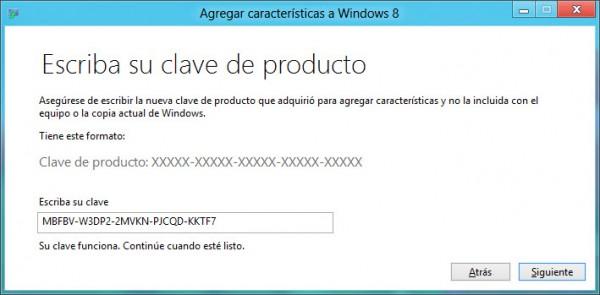 clave para windows 8 1