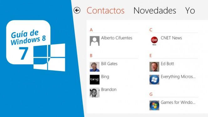 Guía de Windows 8 (7): Contactos e integración con redes sociales