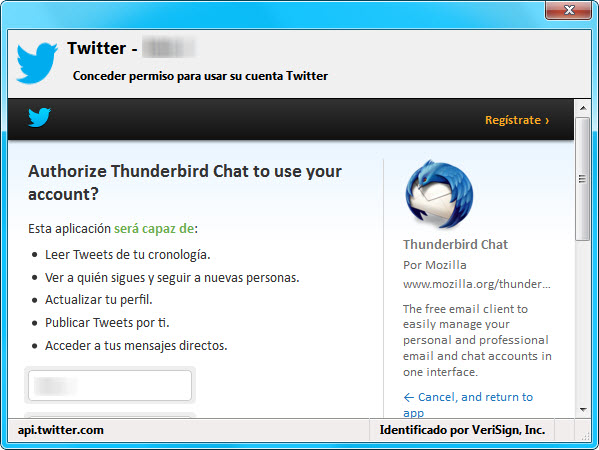 Autorizacion Twitter