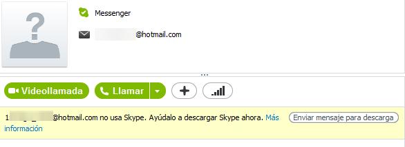 Mensaje Skype