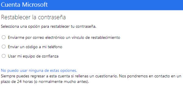 Recuperacion password Microsoft