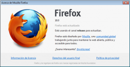 Mozilla lanza Firefox 18