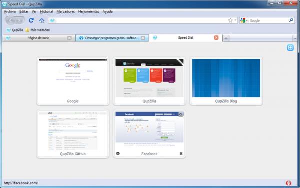 QupZilla: Navega por la web a toda velocidad