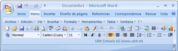 """El criticado """"ribbon"""" de la nueva interfaz de Office 2007"""