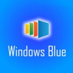 Un logo no-oficial de Windows Blue