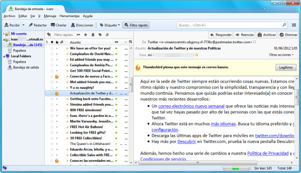 Hotmail en Thunderbird