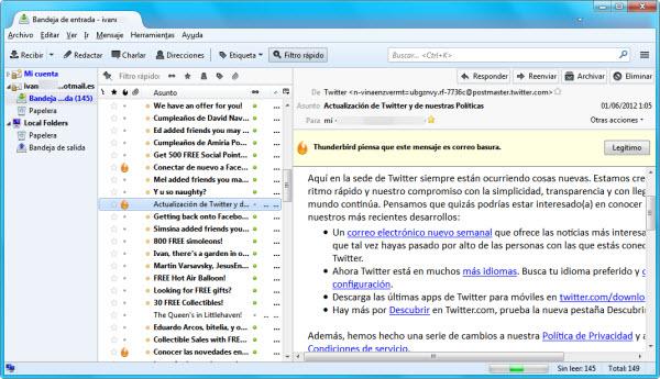 Hotmail en Thunderbird