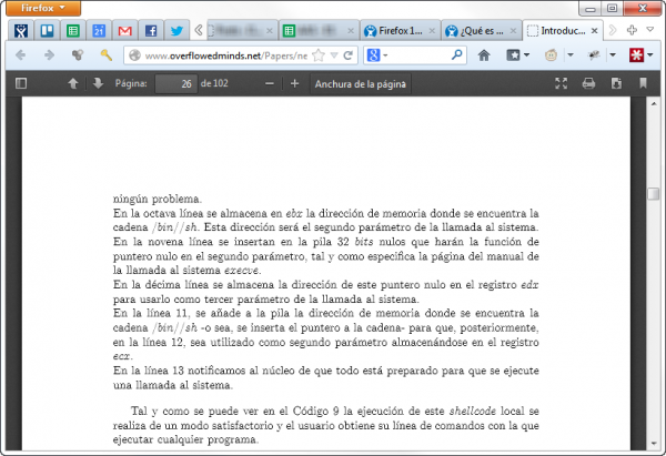 El lector PDF de Firefox 19