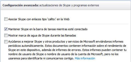Mantener Skype
