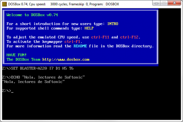 DOSBox en todo su esplendor