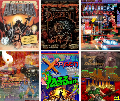 Seis de los GamePacks ofrecidos por DBGL