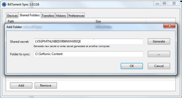 BitTorrent Sync comparte en p2p