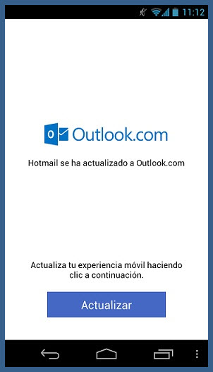Hotmail.com en Android