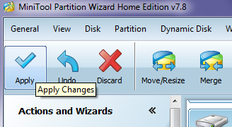 Partion Wizard 7 Apply Changes