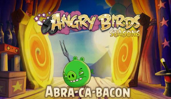 ¡Abra-Ca-Bacon! Vídeo gameplay del nuevo Angry Birds Seasons