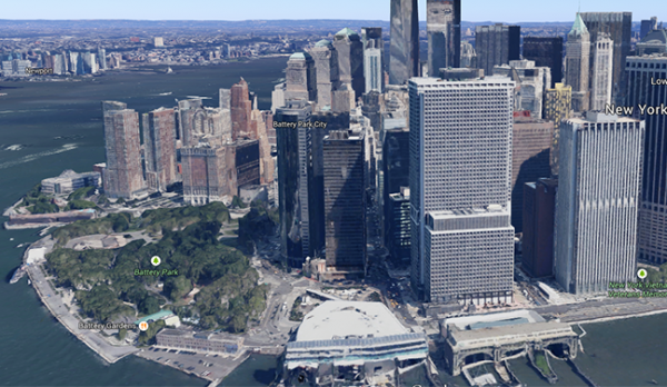 Mapa 3D New York