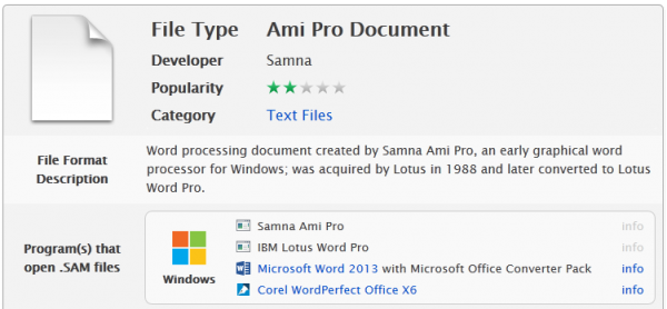 Información sobre el formato SAM