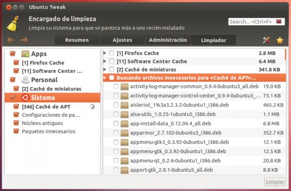 Personaliza Ubuntu con Ubuntu Tweak