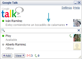 how to put invisible on google hangouts