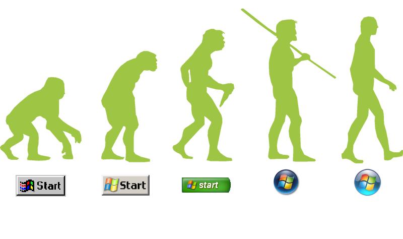 La historia del botón de Inicio de Windows