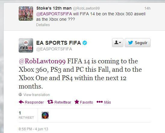 FIFA 14 PS4 Lanzamiento