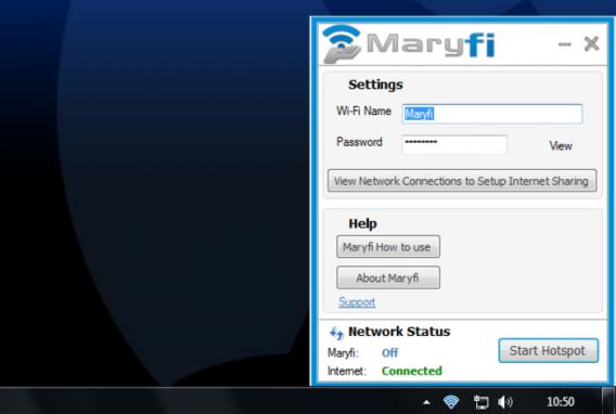marify app para convertir portatil en hotspot wifi
