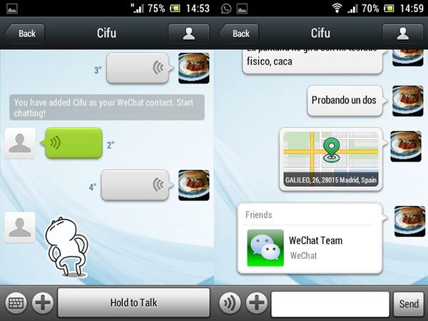 Mensajes de Chat