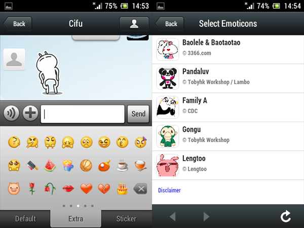 emoticonos y stickers