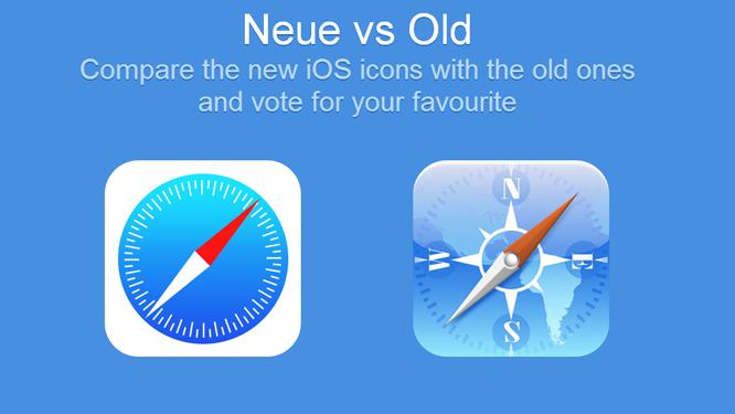 iOS 7 vs iOS 6: ¿qué iconos prefieres?