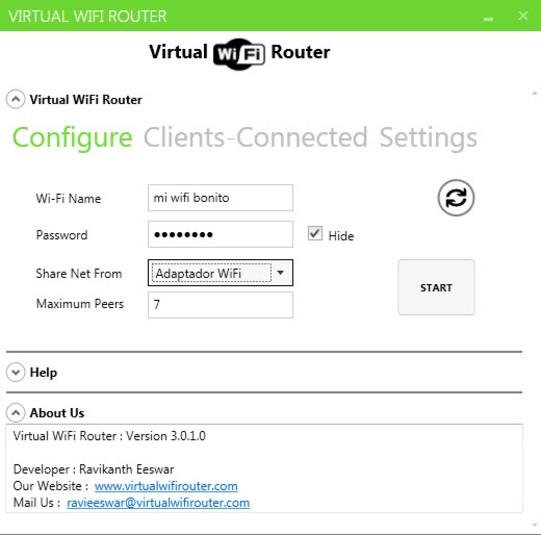 app para convertir un portatil en hotspot wifi