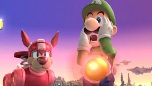 Smash Bros. de Wii U: ¡Una explosión ataca a Link y Mega Man!