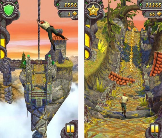 Tela de Temple Run 2