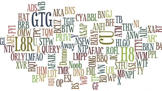 OMG WTF BBQ, ¿Qué significan todas esas abreviaturas en Internet?