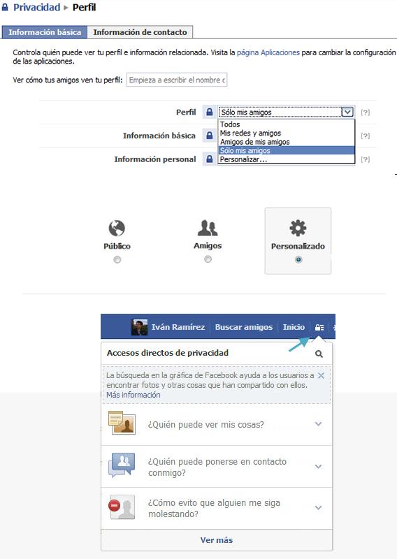 Opciones Privacidad Facebook