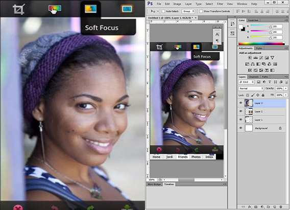 Photoshop para Android y para Windows