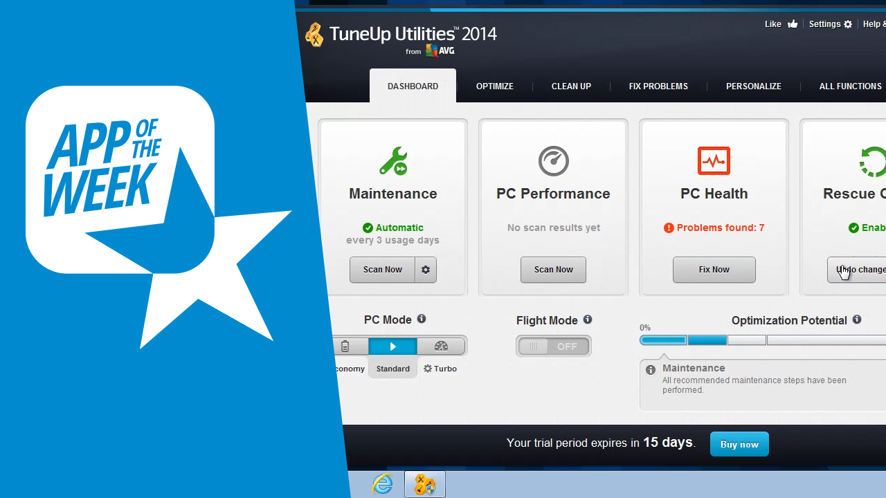 Optimiza tu PC con Tune Up Utilities 2014, la aplicación de la semana