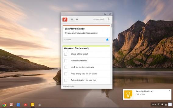 O Google Keep reúne lembretes, listas de coisas para fazer e anotações rápidas