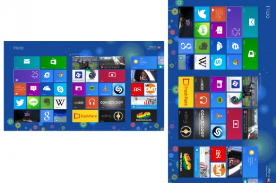 girar pantalla windows 8