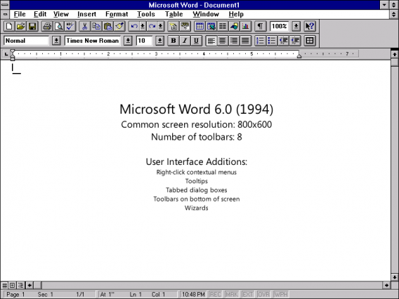 Microsoft Word 6.0
