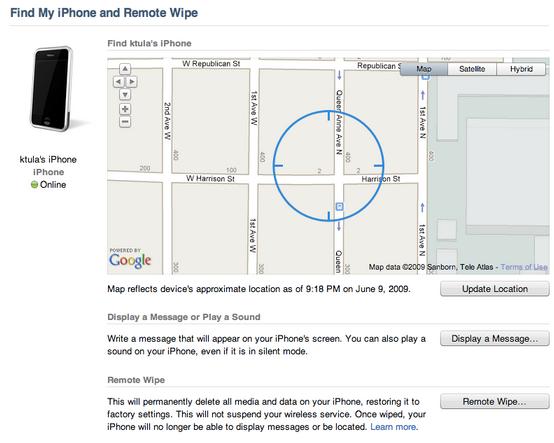 tela Find my iPhone